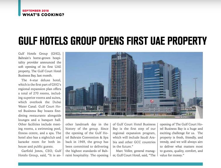 Hotel News ME Publication Sept 2018