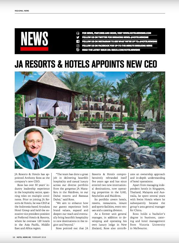 Hotel News ME Publication Feb 2018