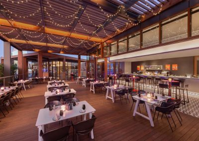Restaurant Photographer - Curio By Hilton Outside Dining