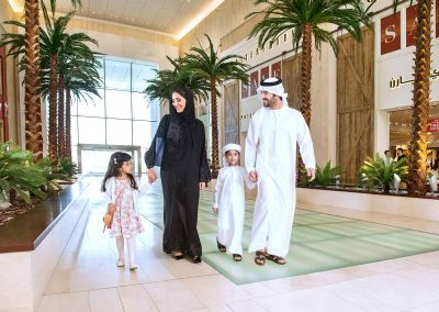 Lifestyle Photographer - Arabic Family Walking In A Shopping Mall