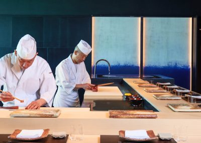 Lifestyle Photographer - Chefs Preparing Sushi